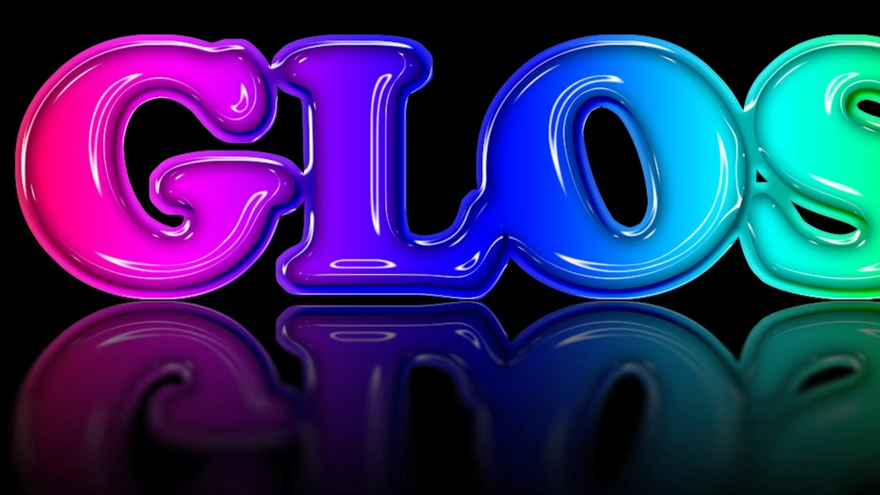 Photoshop Tutorial: How to Create Glossy, Molded Plastic Text with a  Reflection