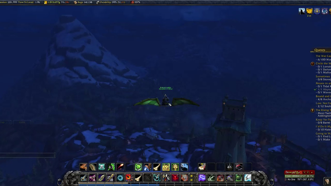 Engineering, Gnomish Gravity Well + Goblin Glider = Flying