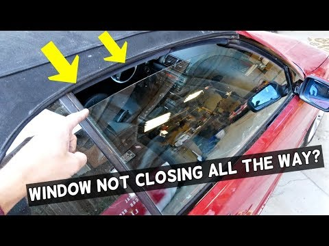 Car Window Does Not Close All The Way Youtube