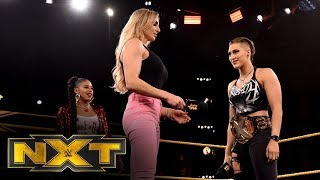 Did Charlotte Flair answer Rhea Ripley's WrestleMania challenge?: WWE NXT, Feb. 5, 2020