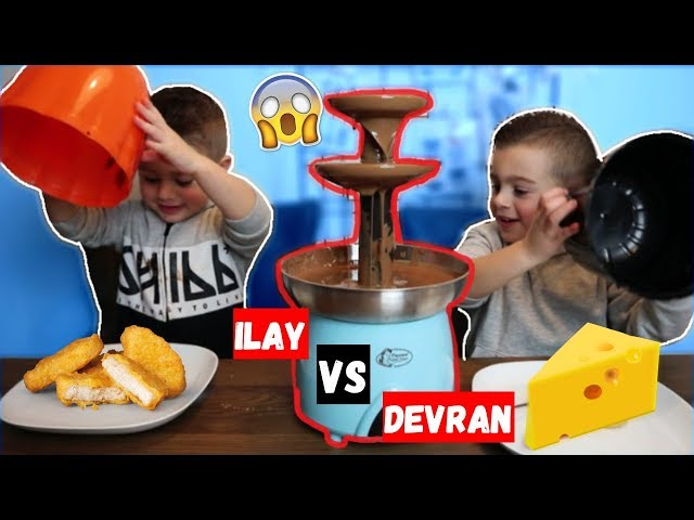 DEVRAN VS ILAY: CHOCOLADE FONDUE CHALLENGE! | LAKAP JUNIOR