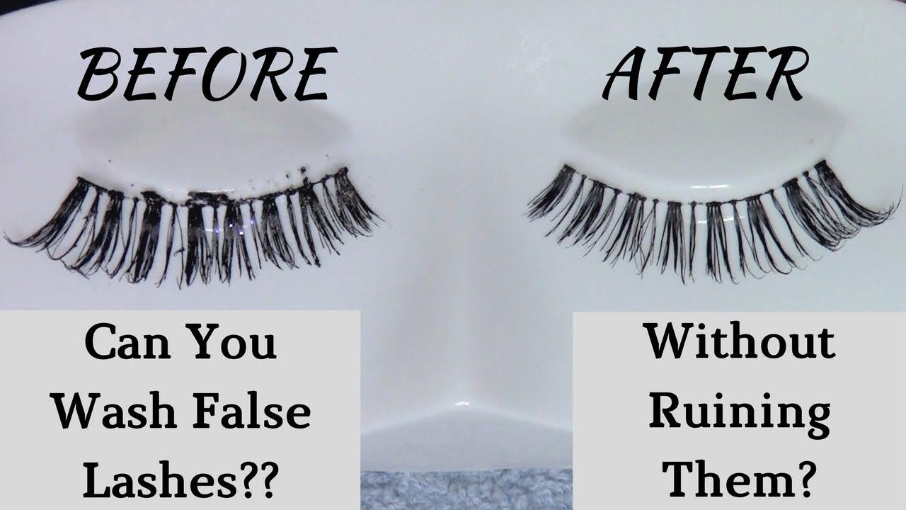 Can You Wash False Eyelashes ? How To Clean False ...