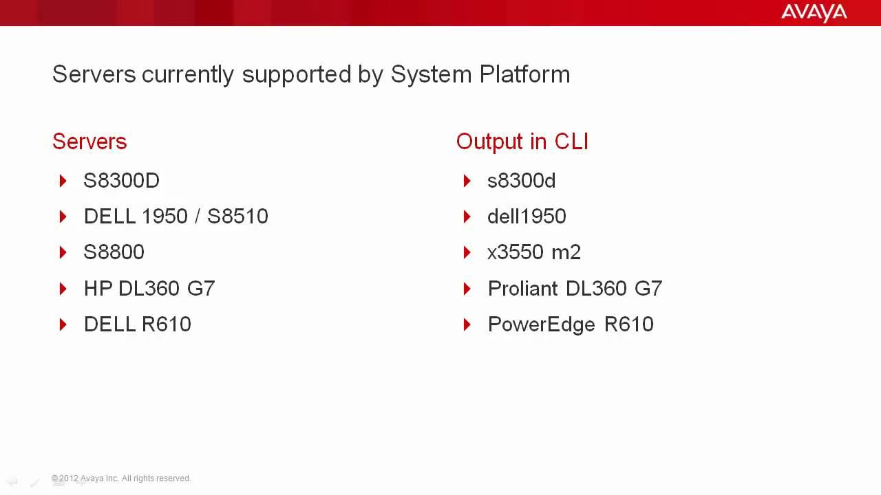How to Remotely Identify the Avaya System Platform Server Type