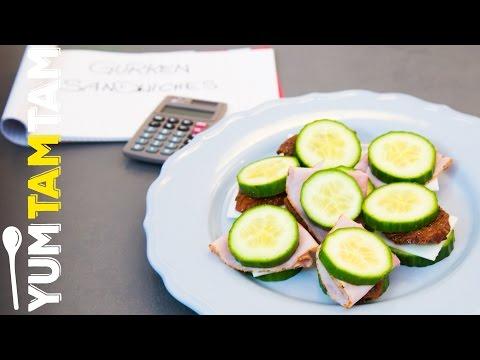 Gurken-Käse-Sandwich low carb // gesunde Snacks für die Prüfungszeit #2 // #yumtamtam
