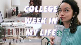 college week in my life: studying, tests, vday, + a rough/busy week