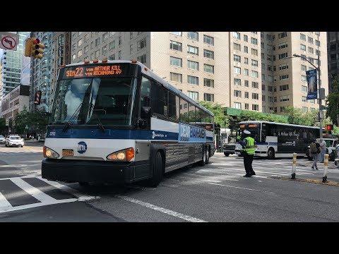 ⁴ᴷ SIM Express Bus Action in Midtown Manhattan