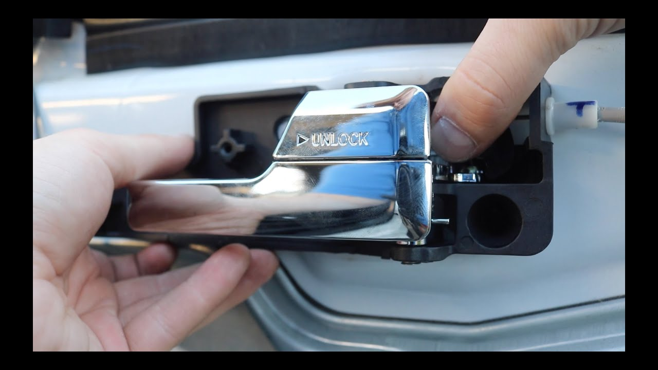 how to replace ford fusion door handle easy youtube. Black Bedroom Furniture Sets. Home Design Ideas