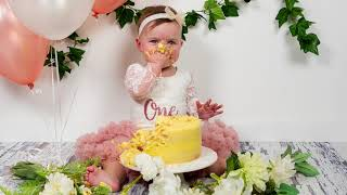 Isabelle's first birthday cake smash video Sony a9 stills a7iii