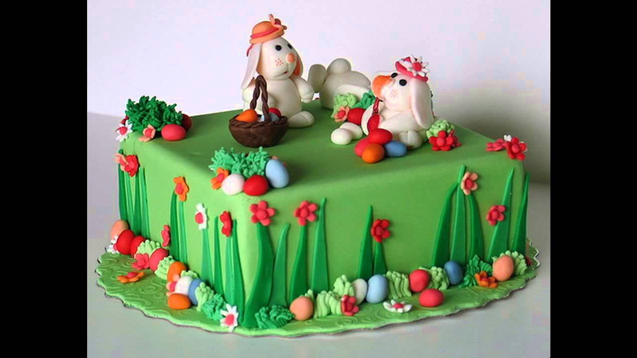 sc 1 st  YouTube & Simple Easter cake decorating ideas - YouTube