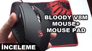 A4Tech Bloody V8M Oyuncu Mouse + Mouse Pad Kutu Açılımı - İnceleme