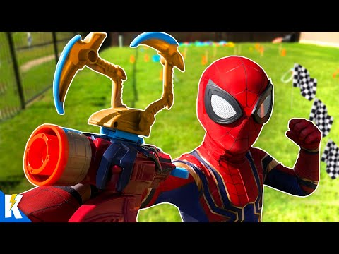 iron-spider-man-ninja-obby-and-avengers-super-hero-gear-test!-|-kidcity