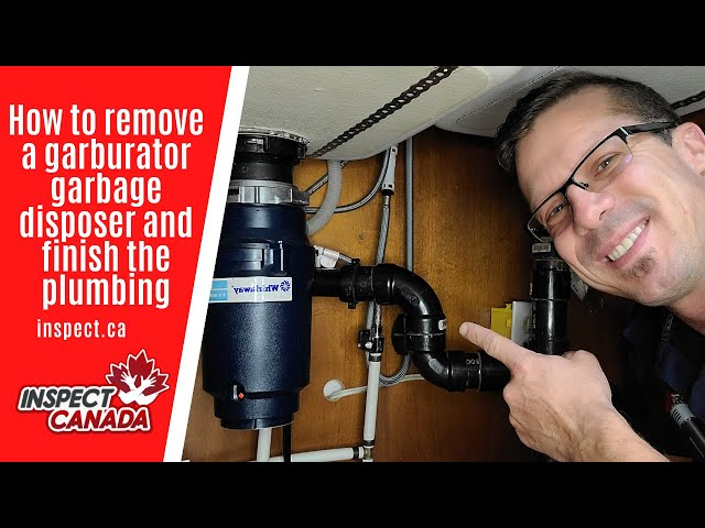 How to remove a garburator garbage disposal and finish the plumbing