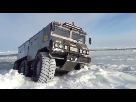 New russian military truck for polar expeditions