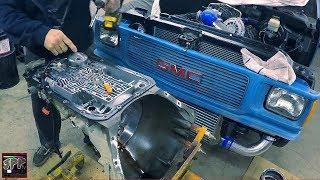 4l80E Junkyard Tranny Prep for Trans Go HD2 Shift Kit | Back Working on the 7875 Turbo 5.3 LS S10