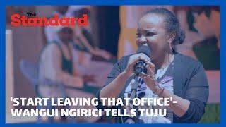 Kirinyaga Woman Rep Wangui Ngirici asks Jubilee Party Secretary-General  Raphael Tuju to resign