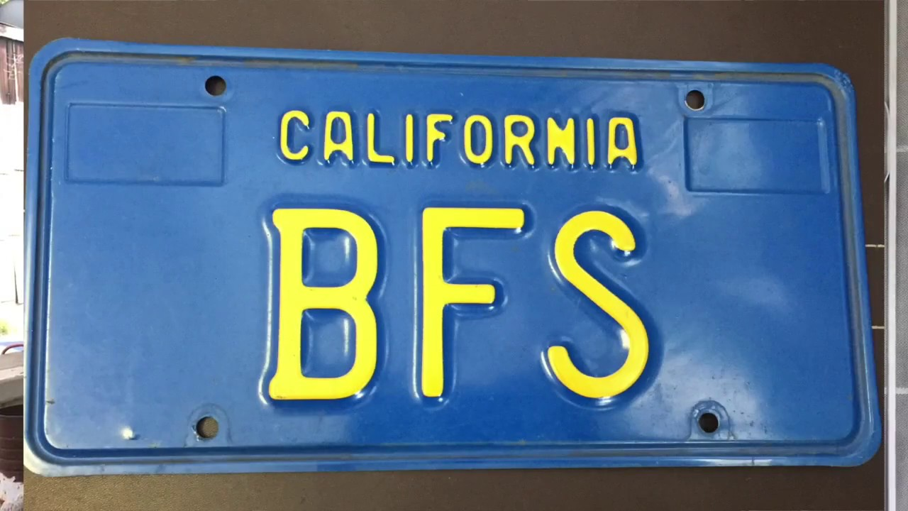 What Does Bfs Stand For On This Old California License Plate