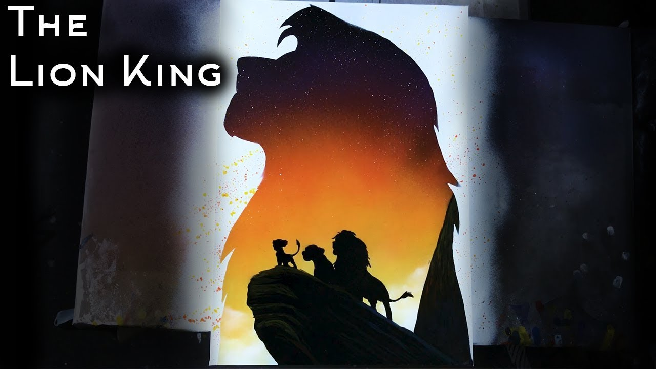 The Lion King Spray Paint Art By Dmitry Koznev Youtube