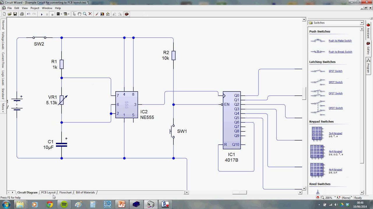 How To Make A Schematic Diagram Wire 4 Way Light Switch Pcb From Youtube