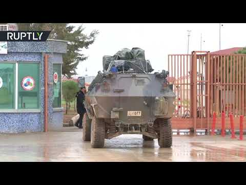 RAW: Turkish military vehicles cross border with Syria as operation 'Olive Branch' continues