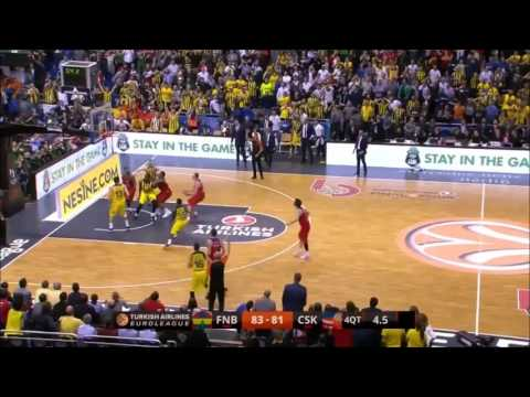 2016 euroleague basketball final. nando de colo travelling last seconds and khryapa shot