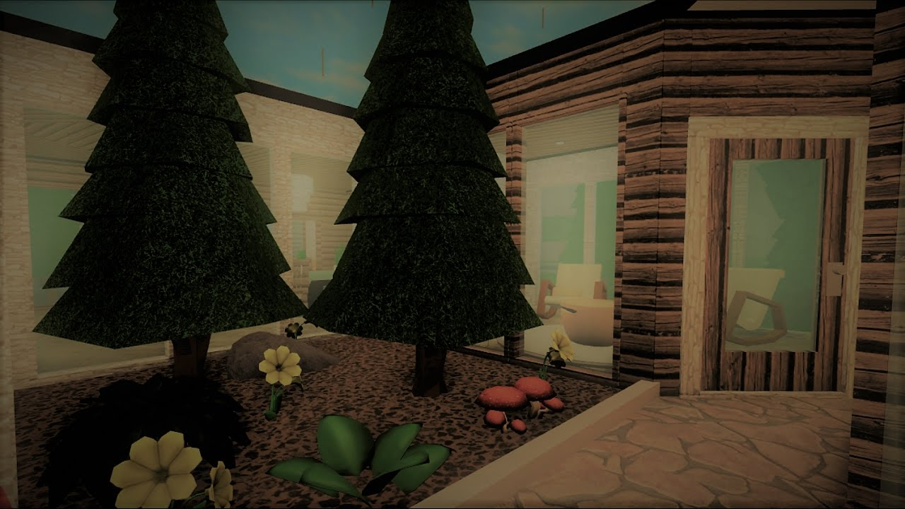 Building A One Story Forest House Roblox Bloxburg Youtube
