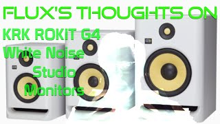 "Flux thoughts: KRK Rokit Gen 4 8"" White Noise edition"