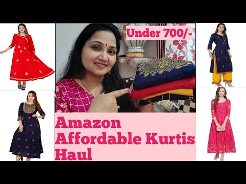 Amazon latest Affordable Designer II Embroidered II Stylish Kurtis Kurta palazo Set and Long Kurtis