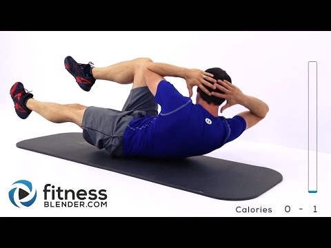 Quick Abs and Obliques Workout Video –  At Home Abs Workout