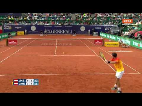 2016 Kitzbuhel Gerald Melzer serve & rally