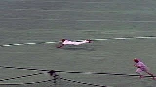 1994 ASG: Ozzie makes a diving stop to rob Knoblauch
