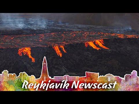 "RVK Newscast #104: The ""Lava-Wall"" At Fagradalsfjall"