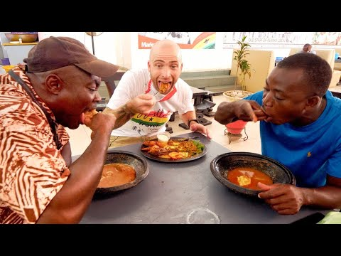 Visiting a CHOP BAR in GHANA!! West Africa Street Food + Attractions   Accra, Ghana