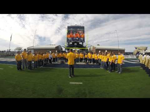Montana State University Chorale Sings the National Anthem