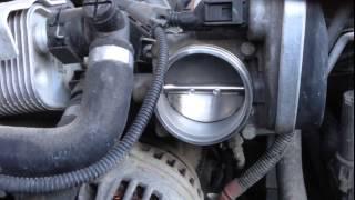 Работа дроссельной заслонки BMW 3 e90 n46
