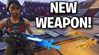 Scammer has a NEW Unreleased Weapon!!! 😱🤯 (Scammer Get Scammed) Fortnite Save The World