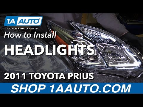 How to Install Replace Headlights 2010-11 Toyota Prius