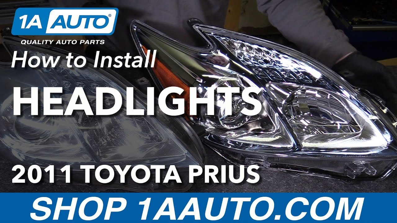 how to replace headlights 10-11 toyota prius