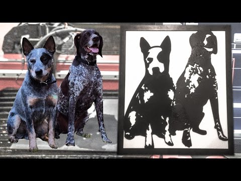 How to Make Metal Dog Portraits on a CNC Plasma Cutting Table
