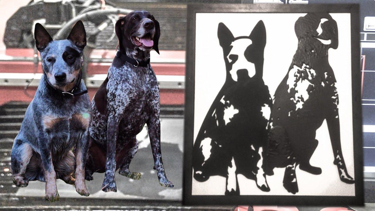 How To Make Metal Dog Portraits On A Cnc Plasma Cutting Table