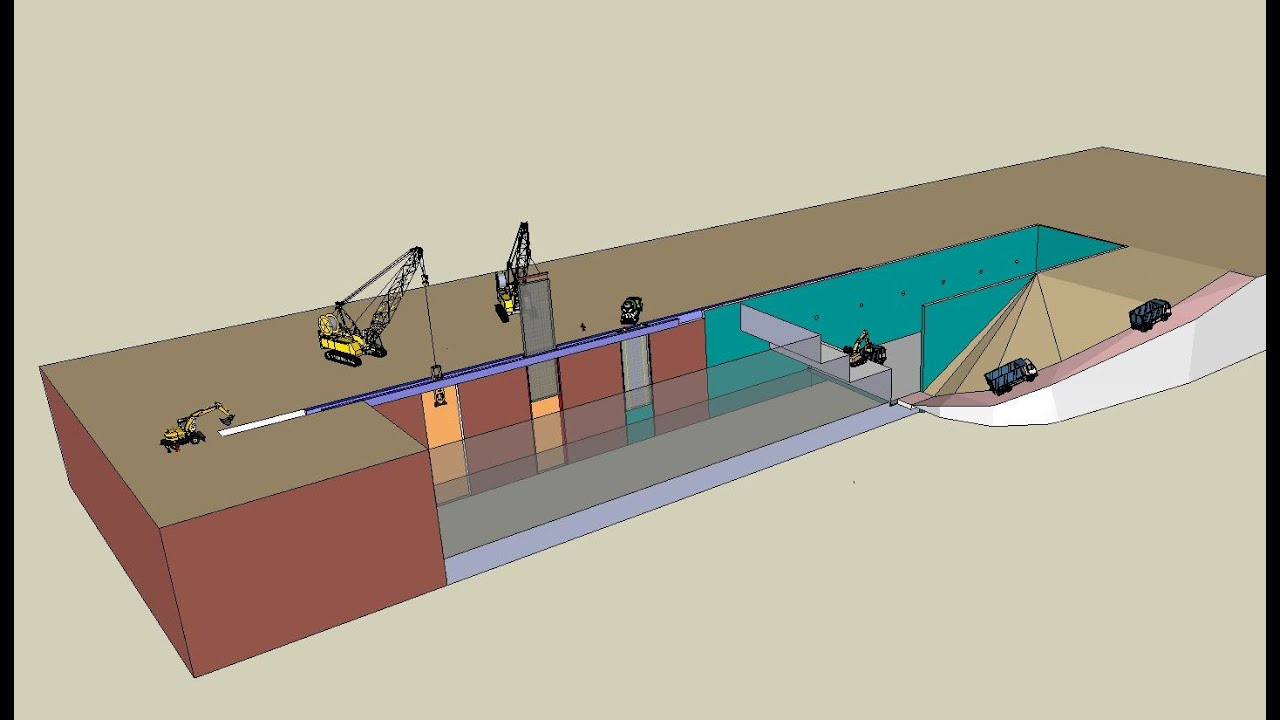 Metro Station With Diaphragm Walls Construction Method
