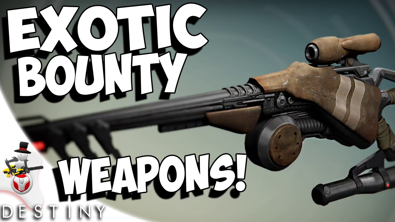 Amazing new exotic bounty weapons dreg s promise lord of wolves