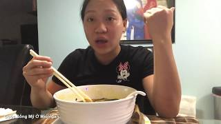 Cuộc Sống Mỹ Vlog 48 ll Mua Bún Bò Về Nhà Ăn Tại Mỹ