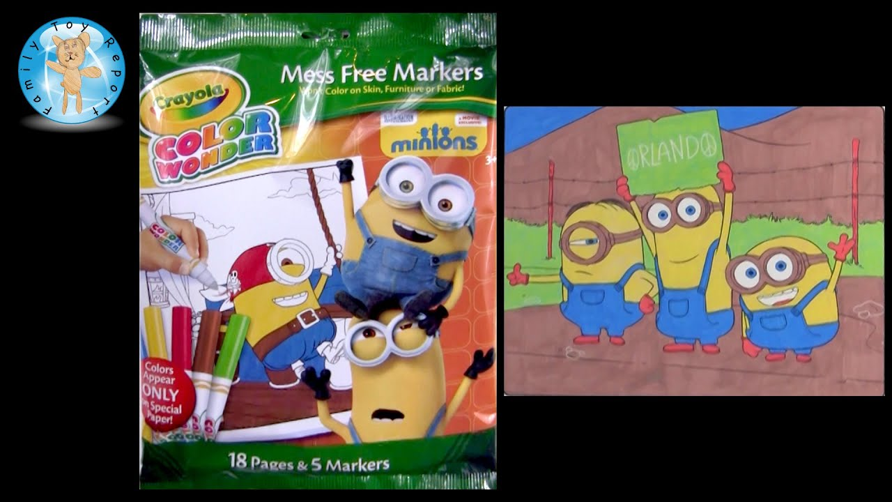 Crayola Color Wonder Minions Movie Coloring Pages Bob Kevin Stuart Speed
