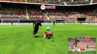 FIFA 14 GAMEPLAY TRAILER ON FIFA 13!
