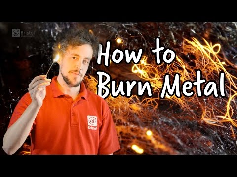 How to burn metal   Do Try This At Home   We The Curious