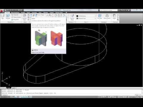 การเขียนแบบ ด้วย AutoCAD 2010 เบื้องต้น ตอน 5/2 3D Modelling