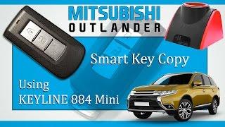 Mitsubishi Outlander Smart Key copy | using Keyline 884