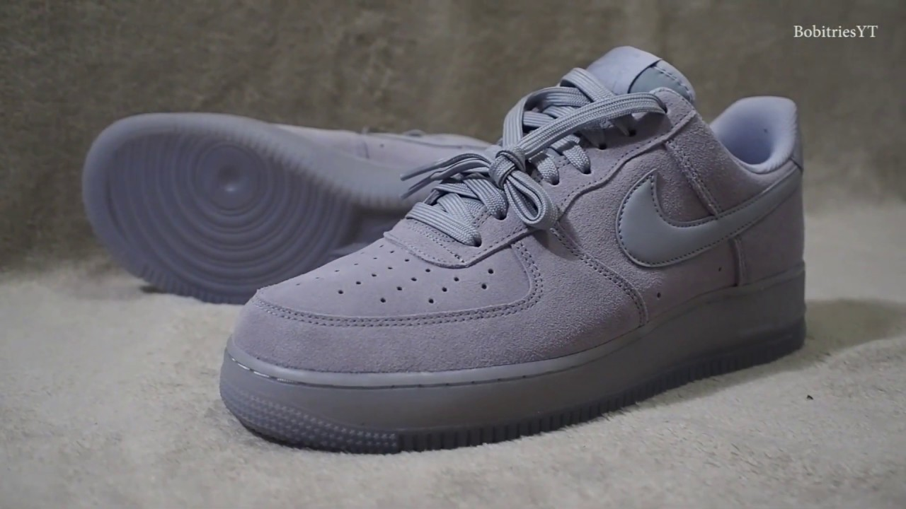 Nike Air Force 1 07 Lv8 Wolf Grey Unboxing On Feet Youtube