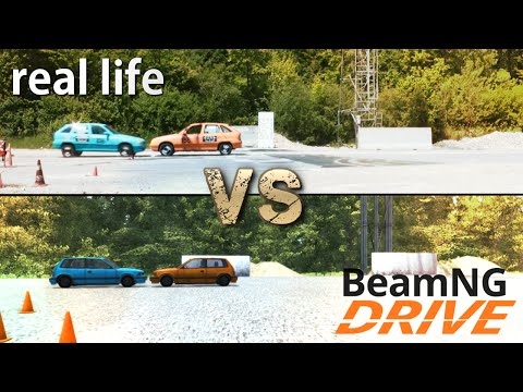 BeamNG.drive VS Real Life (Physics & Damage Comparison)