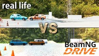 BeamNG.drive VS Real Life (Physics & Damage Comparison)